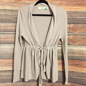 Anthropologie sparrow gray ribbed cardigan